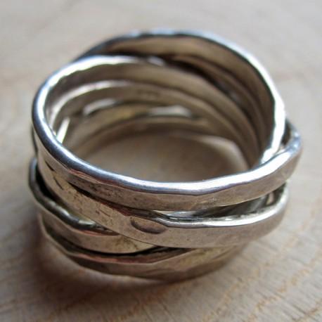 Zilveren ring multi