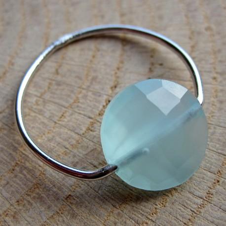 Zilveren ring chalcedoon