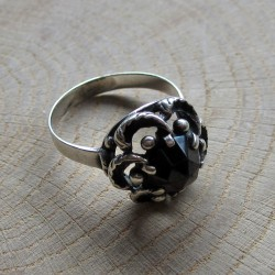 Vintage ring granaat