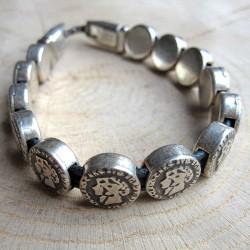Armband schuifbedels munten