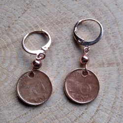 Oorhaakjes 10 cent muntje