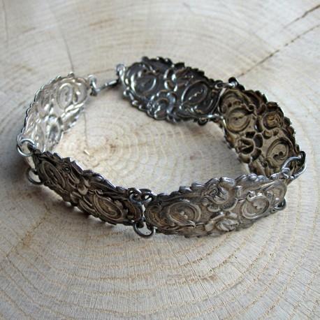 Antieke schakelarmband roosjes