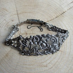 Antieke armband bloemenfiguurtjes