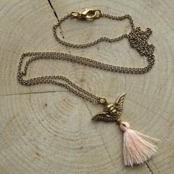 Halsketting met engel hangertje kwastje